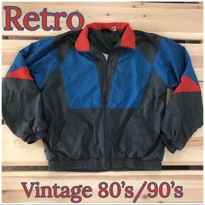 Vintage Retro Windbreaker Fun Colors Unisex Men